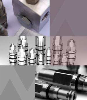 hydraulic components: here screw-in valves / Cartridges